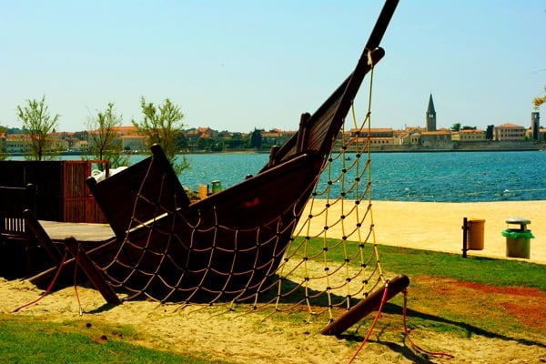 Children Playground at Pical Beach in Porec