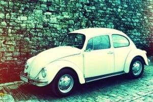 Old Beetle Car in Motovun, Istria