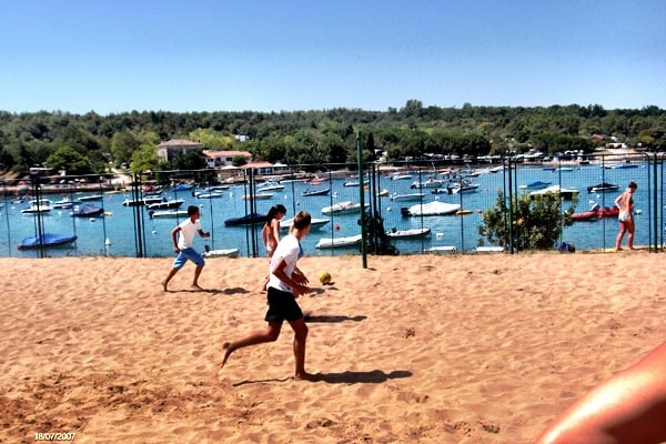 Beach Volleyball Court in Camping Lanterna