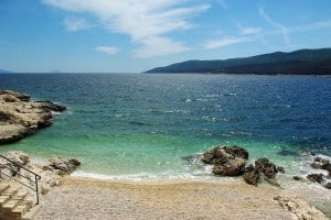 Beach in Rabac, Istria