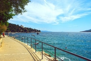 Seafront Promenade in Rabac Istria