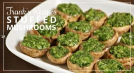 Stuffed mushrooms canapés