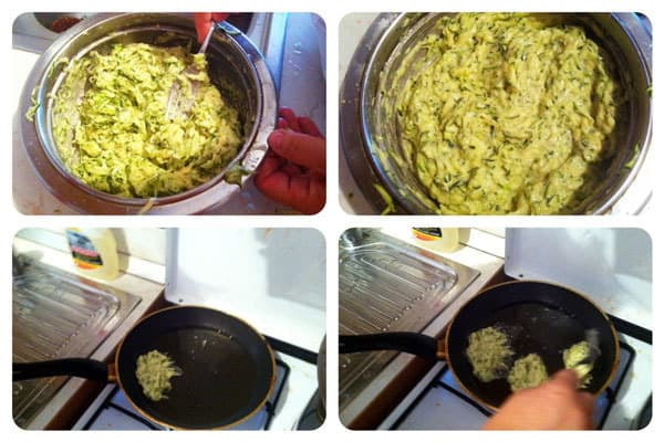 Zucchini Fritters Recipe: Step Three