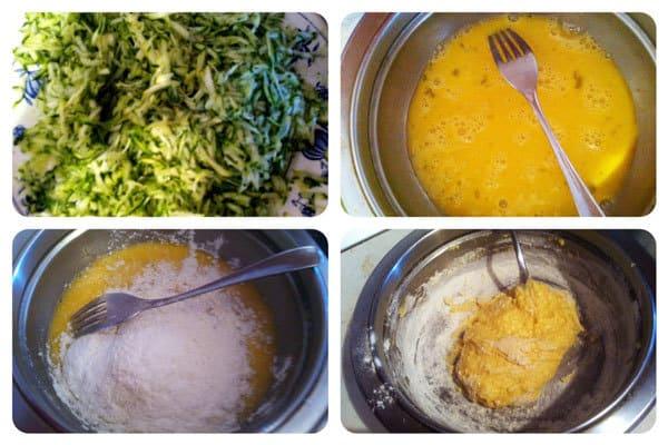 Zucchini Fritters Recipe: Step One