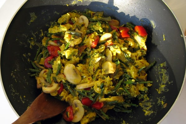 Istrian dishes: Scrambled eggs with wild asparagus