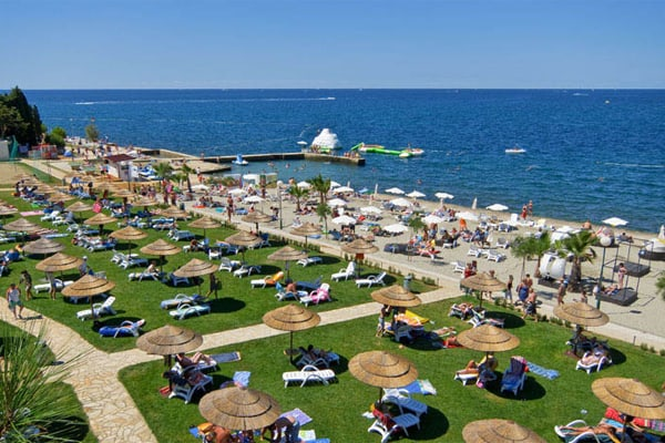 Beach At Hotel Valamar Pinia
