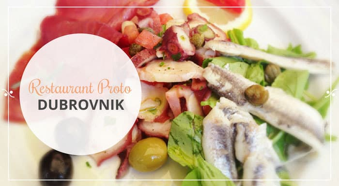 Restaurant Proto Dubrovnik Croatia | Croatia Restaurant Guide