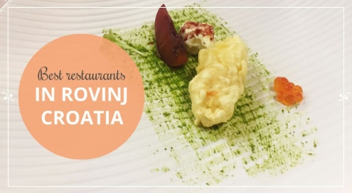 A dish from Barba Danilo, one of the best restaurants in Rovinj