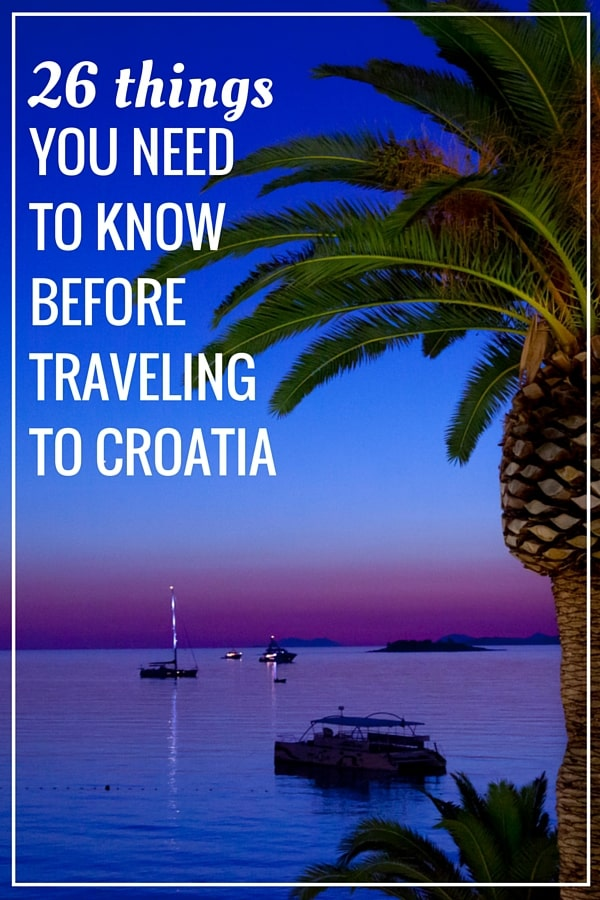 Croatia Travel Guide | Pin me for later!
