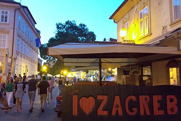 A Travel Guide To Zagreb Croatia | Tkalciceva Street At Night