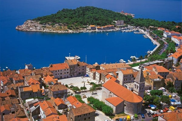 Makarska Croatia: Air view
