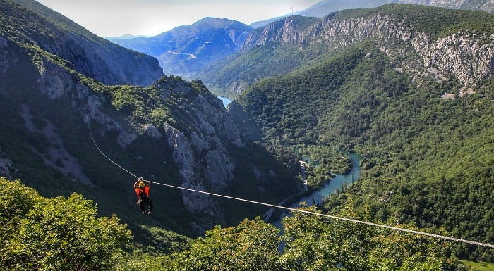 Things To Do In Split Croatia   Zip Lining over Cetina River