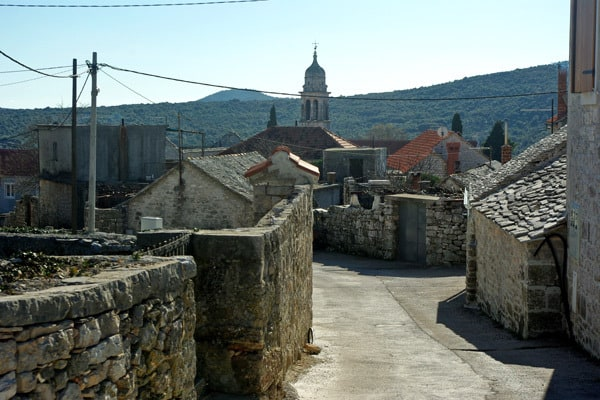 Croatian Islands: Small village on the island of Brac