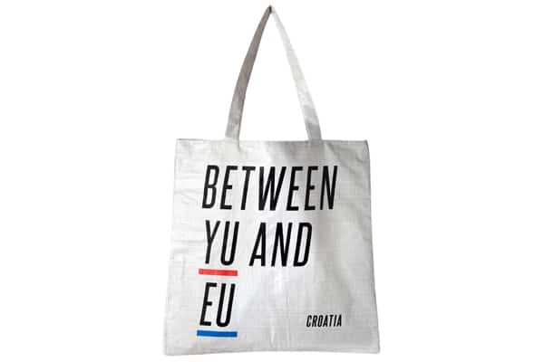 Croatian souvenirs: a shopping bag
