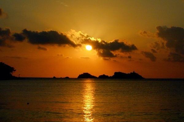 Croatia sunset: Sunset at the sea