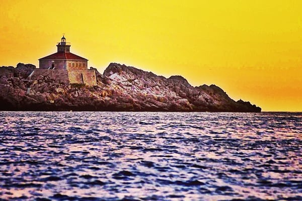 Croatia Sunset: Dubrovnik Lighthouse at sunset