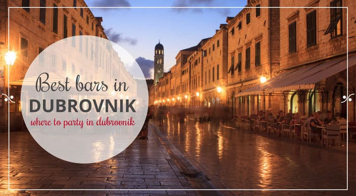 Best Bars In Dubrovnik Croatia | Croatia Restaurant Guide