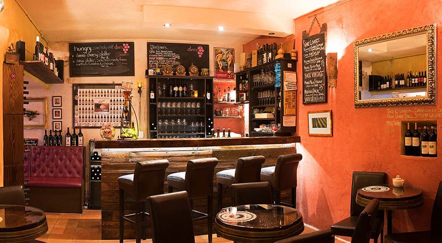 Interior of D'Vino Wine Bar in Dubrovnik