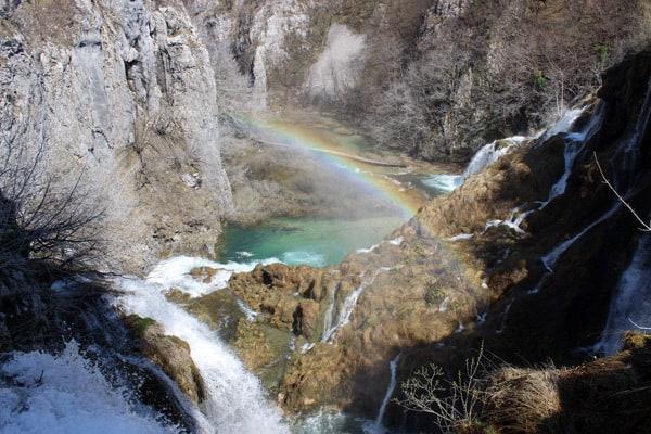 Plitvice Lakes Croatia Photos: Rainbow