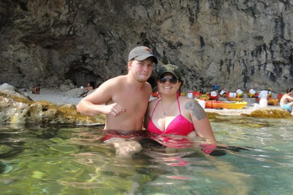 Sea Kayaking in Dubrovnik: Cliff jumping and swimming