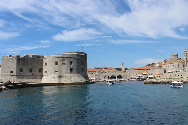 Dubrovnik Pictures: The first glimpse of the old port and the town
