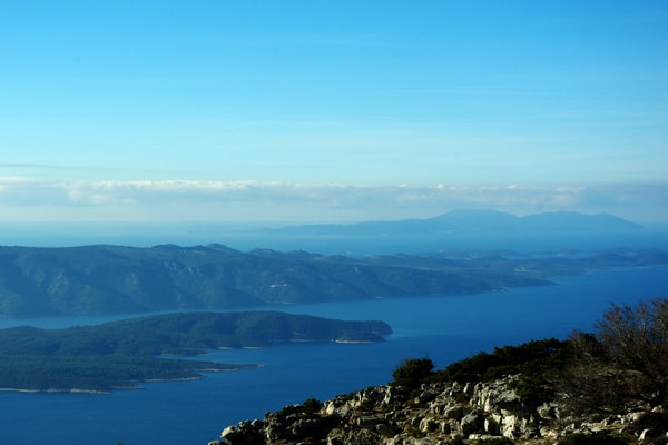 Hiking Dalmatia: View from Vidova Gora on the island of Brac