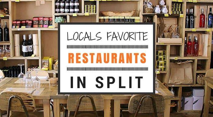 Locals favorite Split restaurants