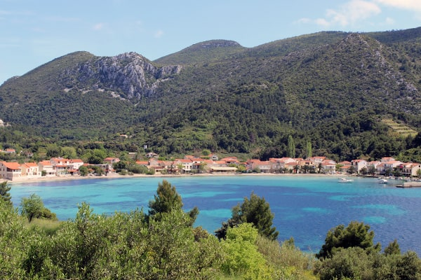 Peljesac peninsula: Panorama of Zuljana