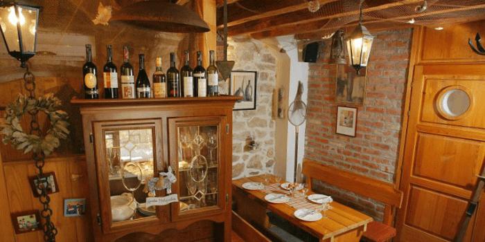 Interior of Konoba Fetivi in Split, Croatia