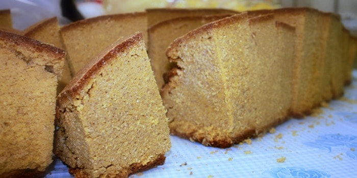 Zagreb Travel Blog: Things To Do In Zagreb |Yummy cornbread from Dolac market
