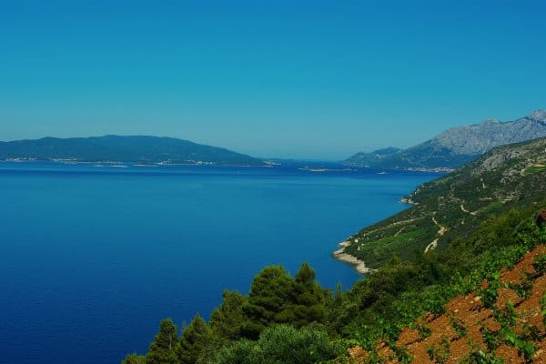 Borak Peljesac, Views over the island of Korcula