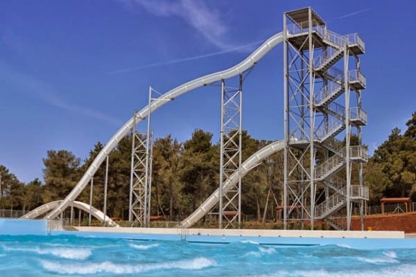 Istralandia Water Park: free fall slide