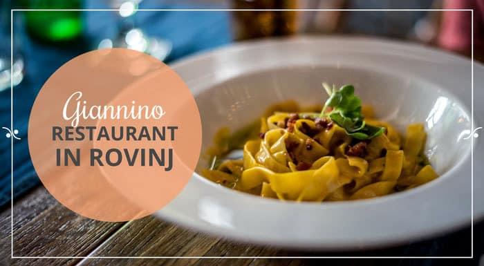 Restaurant Giannino Rovinj Croatia | Croatia Restaurant Guide