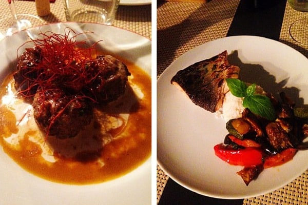Restaurant Azur Dubrovnik: salmon and meat balls