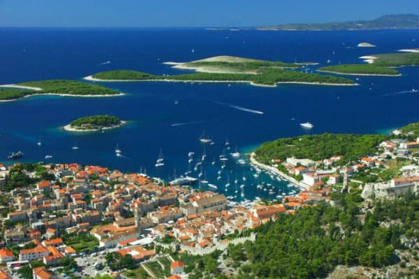 Croatia Sailing Itinerary: Hvar Town on the island of Hvar