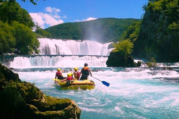 White water rafting in Croatia | River Una