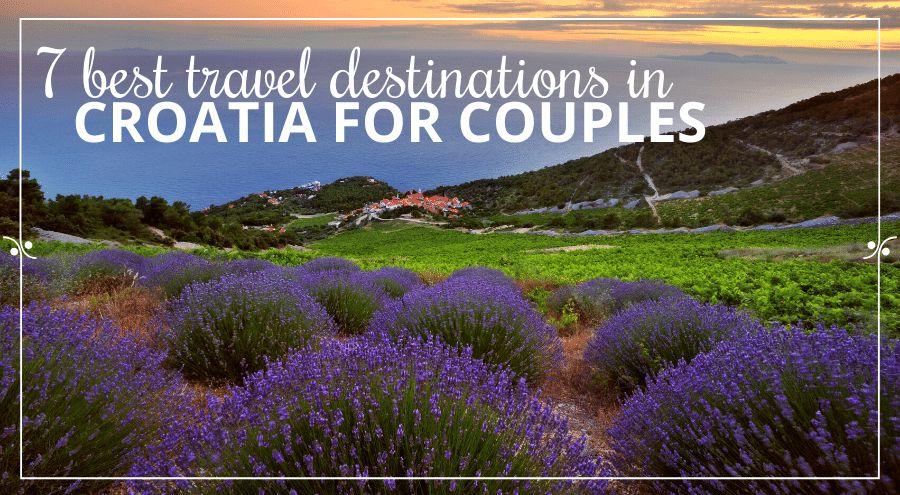 Lavender fields on the island of Hvar, sea