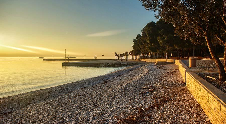 Delfin Beach in Zelena Laguna, Porec