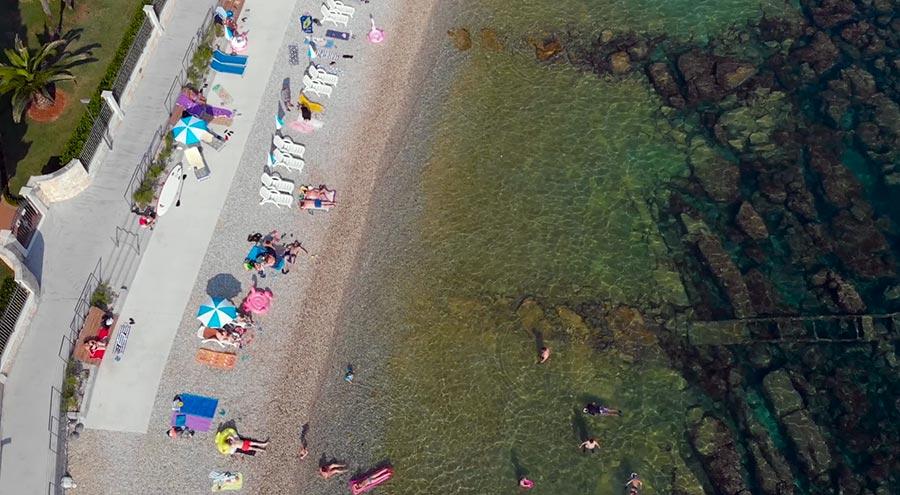Materada Beach from the air