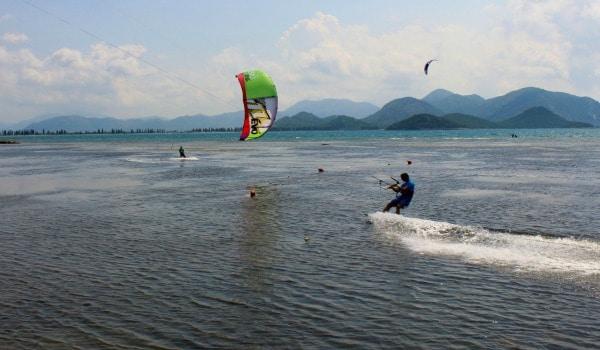 Kiteboarding in Usce Neretve