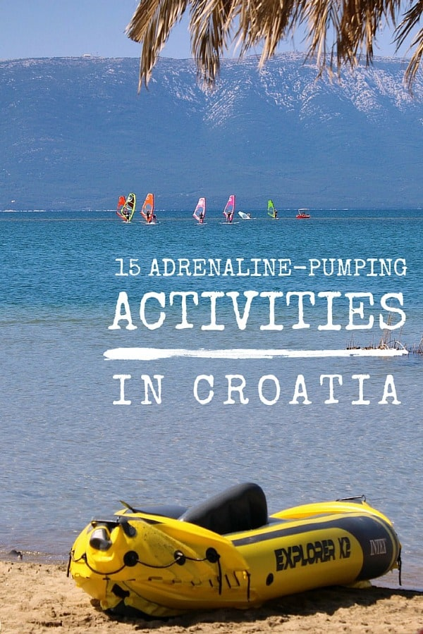 Outdoor Activities in Croatia, Illustration for Pinterest