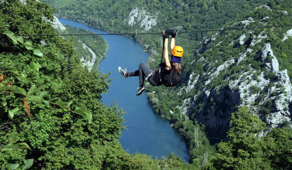 Activities in Croatia | Ziplining over the Cetina River Canyon