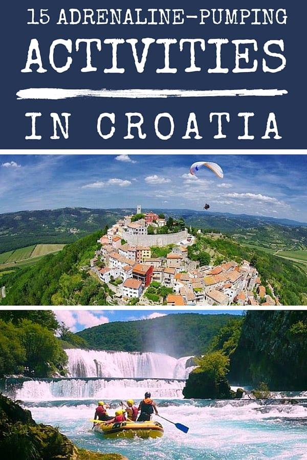 Outdoor adventure activities in Croatia, Illustration for pinterest