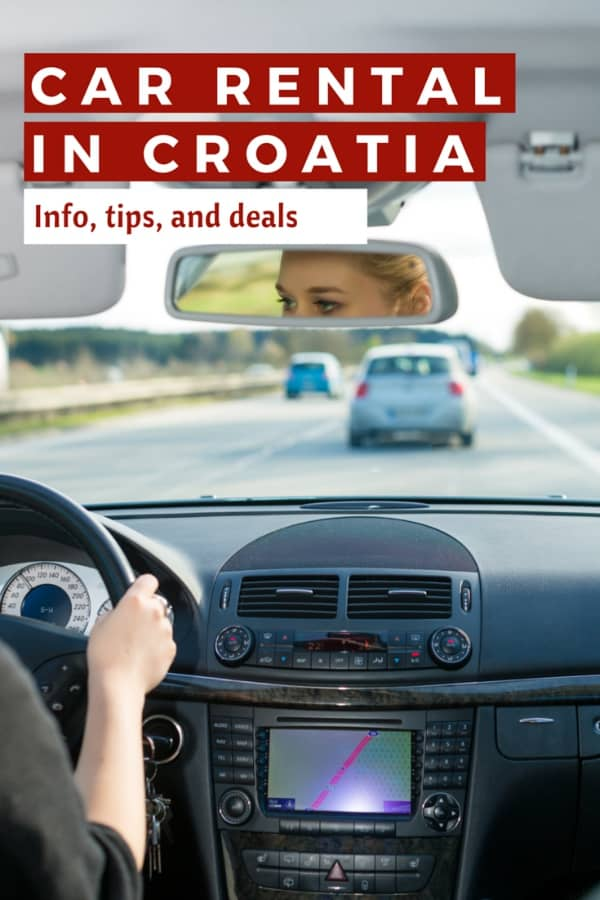 Car Rental Croatia | Pin me for later!