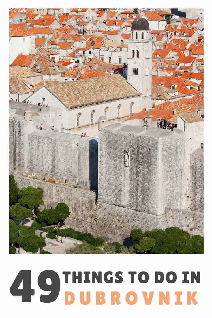 Things To Do In Dubrovnik   Pin Me For Later!