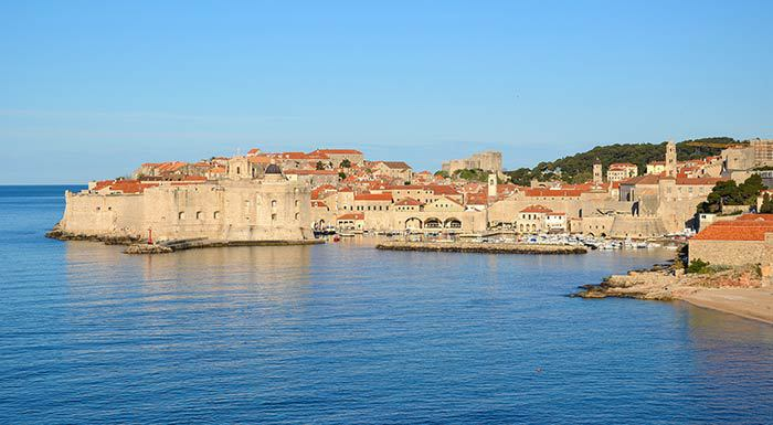 Dubrovnik panorama from the sea