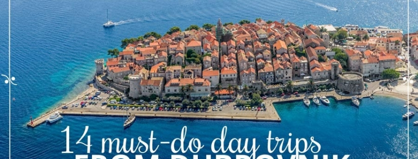 Korcula Town from the air