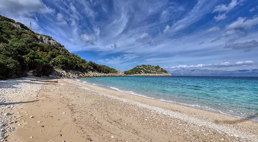 Divna beach on Peljesac Peninsula