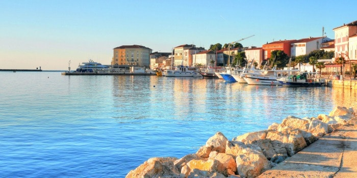 Panasonic Lumix GF7 Review |Waterfront in Porec, Croatia