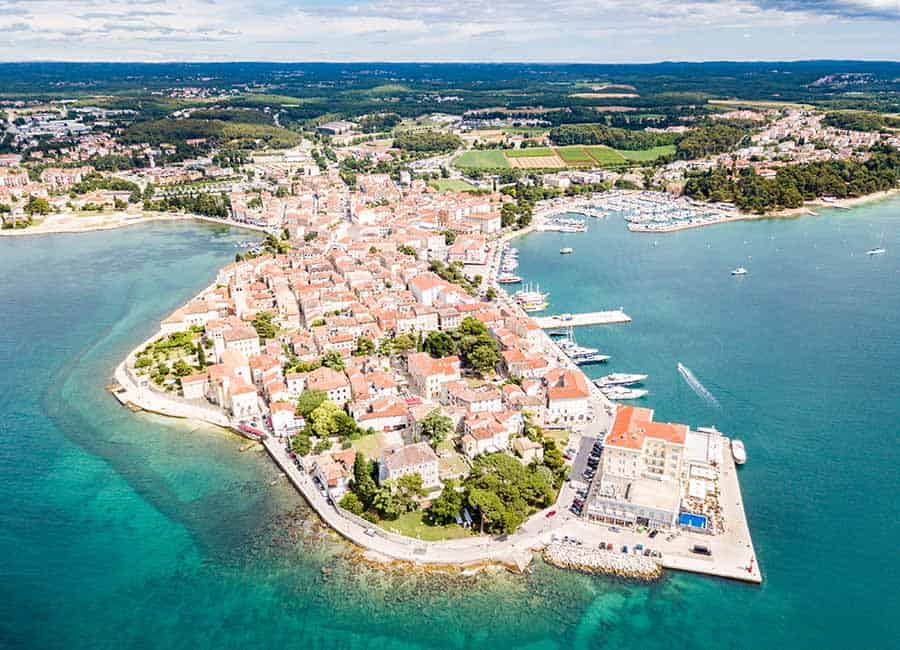 Porec Croatia Travel Guide | Porec seen from the air